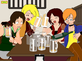 lol Double Date xDDD by Epitaph-Of-Silence