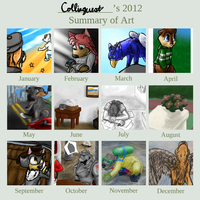 2012 summary of art [COMPLETED] by Colliequest