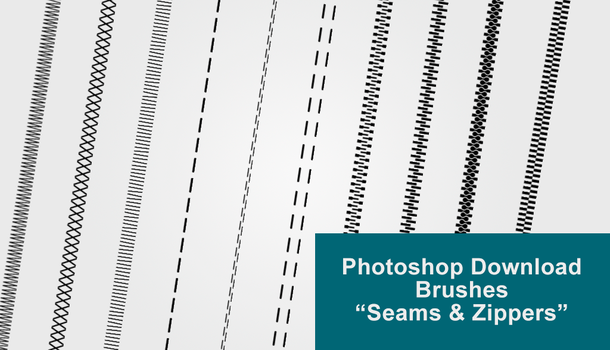 Photoshop Download Brushes 'Seams n Zippers' by cstaiger