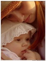 Alina and mom by dich