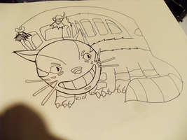 Cat Bus Outline by princerul