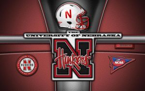 Huskers patch wallpaper (black) by vectorgeek