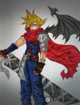 Cloud Strife Art Trade by Vossy