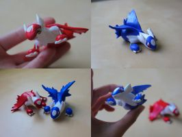 Latios and Latias [Body Shot] by lonelysouthpaw