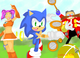 sega superstars tennis by wallacexteam