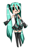 adventure time x vocaloid CV01 miku by Ask-Lala