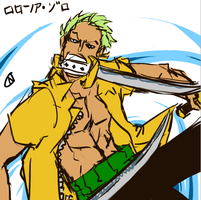 Zoro Doodle by nyb