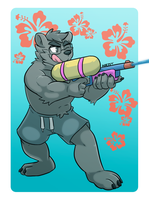 Nathan The Bear by HiKazeDragon