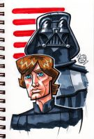 Luke and Vader by Chad73