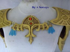 Princess Zelda TP necklace chest piece by Narayu-Crea