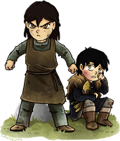 Greyjoy Siblings by Thrumugnyr