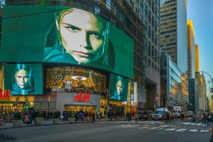 NYC - H and M - late hour by Rikitza