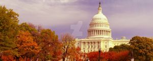 The Capitol in Fall Foliage by Eye-In-Vision