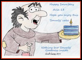 Happy Smurfday- Acla13 by UncleGargy