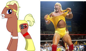 ponified hulk hogan by kuren247