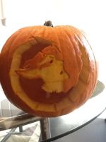 Grimmjow Pumpkin by SLICEGAL