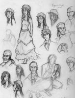 Les Miserables Sketchdump 1 by HelenaSun