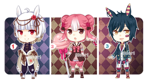 Set price adopts #8 Easter bunnies [ C L O S E D ] by Riukkii