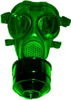 Green Gas Mask by CarlosAE
