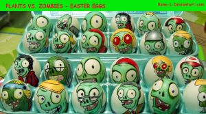 Plants vs zombies easter eggs by Rene-L
