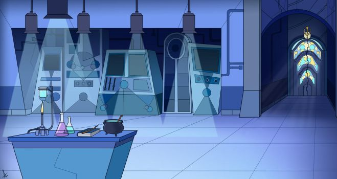 Science Wizard's lab by Cryej