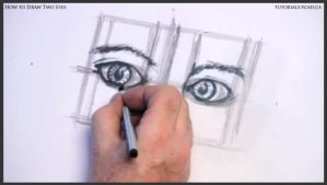 Learn how to draw two eyes 015 by drawingcourse