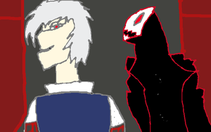 Travis and Cyber Demon (Fighter's Paradise) by TheTalon34