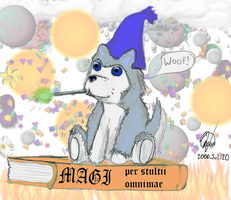 Dundee the color puppy mage by Janus-Rakeldant