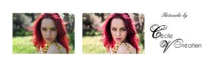 Before After Retouche Photo Faestock by CecileVCreation