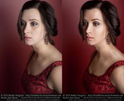 Portrait/Glamour Photography Retouch Practice by MoonchildLuiza