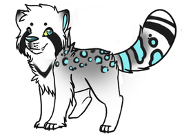 Snow Leopard/Red panda auction adoptable CLOSED by SpunkyAdopts