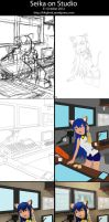 Seika on Studio WIP Process by k4glimit
