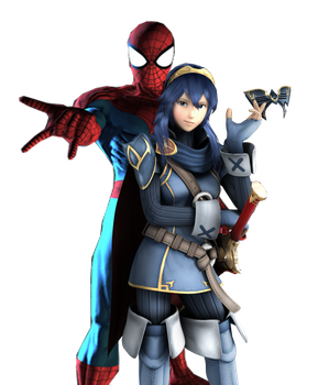 Lucina and Spider-Man team up by loveroflife162