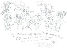 Dtmg OCs togather  by Kittychan2005