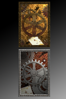 Steampunk iPhone Backgrounds by PixelBunneh