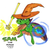 Sam the Mage _color_ by Cartoon-Eric
