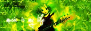 Green Guitarist by nanomeow