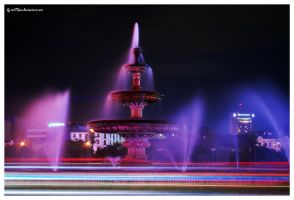 Night fountain by iuli72an