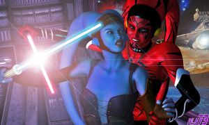 Talon Vs Aayla by WLN73