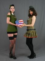 Military Gals 2 by MajesticStock