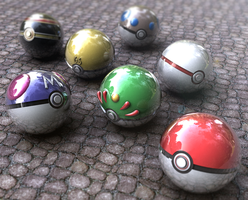 Pokeballs by bogeymankurt
