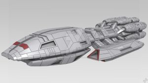 Battlestar Pegasus WIP 1 by Scotch-And-Soda