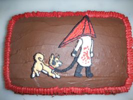 Silent Hill 2 cake by evilweasel24