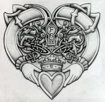 Celtic Claddagh by Tattoo-Design