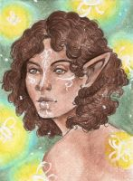 Traditional Commission- Gwendalyn Lavellan A6 by Lilith-the-5th