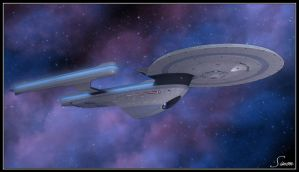 U.S.S. Enterprise NCC-1701-B by celticarchie