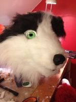 WIP fursuit head collie by WithCandyDancing