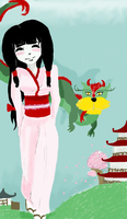 Japanese with dragon by Carmella159