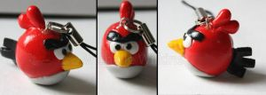 Angry Bird Charm by DragonsDust