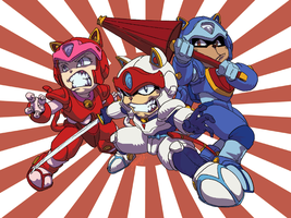 Samurai Pizza Cats by theCHAMBA
